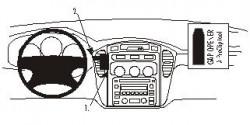 Fixation voiture Proclip  Brodit Toyota Highlander  PAS pour les modèles avec un écran de navigation. Réf 852892