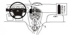 Fixation voiture Proclip  Brodit Citroen C5 Réf 852908