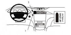Fixation voiture Proclip  Brodit Renault Laguna Réf 852910