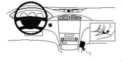 Fixation voiture Proclip  Brodit Renault Laguna Réf 852911