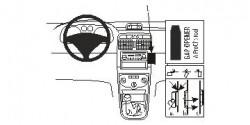 Fixation voiture Proclip  Brodit Peugeot 307 Réf 852921