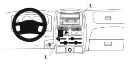 Fixation voiture Proclip  Brodit Nissan King Cab Réf 852922