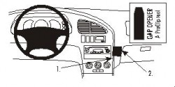 Fixation voiture Proclip  Brodit Kia Sephia II Réf 852942
