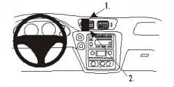 Fixation voiture Proclip  Brodit Chevrolet Trail Blazer Réf 852949