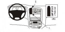 Fixation voiture Proclip  Brodit Hyundai Sonata Réf 852951