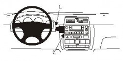 Fixation voiture Proclip  Brodit Toyota Avensis Verso  UNIQUEMENT pour changement de vitesse manuel. Réf 852954