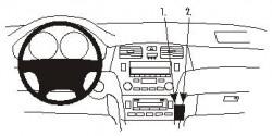Fixation voiture Proclip  Brodit Lexus ES Series Réf 852956