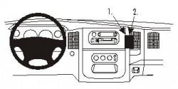 Fixation voiture Proclip  Brodit Dodge Ram Pick Up 1500 Réf 852972