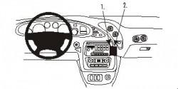 Fixation voiture Proclip  Brodit Pontiac Bonneville Réf 852974
