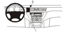 Fixation voiture Proclip  Brodit Mitsubishi Lancer Réf 852977