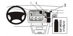 Fixation voiture Proclip  Brodit Cadillac Escalade Réf 852981