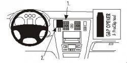 Fixation voiture Proclip  Brodit Hyundai Terracan Réf 853003