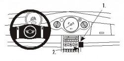 Fixation voiture Proclip  Brodit Mini Cooper Réf 853013