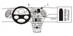 Fixation voiture Proclip  Brodit Saab 9-3  SEULEMENT pour le grain de panneau de bois / kevlar look. Permet de bloquer l'affichage et porte-gobelet. Réf 853015