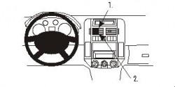 Fixation voiture Proclip  Brodit Volkswagen Polo Réf 853028