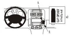 Fixation voiture Proclip  Brodit Volkswagen Polo  Va bloquer le porte-gobelet. Réf 853029