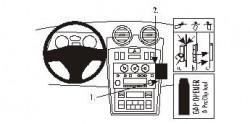 Fixation voiture Proclip  Brodit Hyundai Coupe Réf 853037