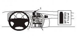 Fixation voiture Proclip  Brodit Saab 9-5  SEULEMENT pour le grain de panneau de bois / kevlar look. Réf 853039