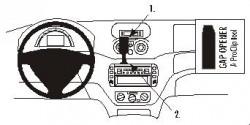 Fixation voiture Proclip  Brodit Citroen C2  C2 - PAS for Elegance. Réf 853044
