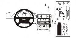 Fixation voiture Proclip  Brodit Audi A3  PAS pour les modèles avec AC. Réf 853049