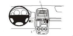 Fixation voiture Proclip  Brodit Honda CR-V  PAS pour de l'argent panneau de grains gris / bois. Réf 853057