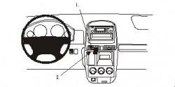 Fixation voiture Proclip  Brodit Honda CR-V  PAS pour de l'argent gris / finition bois Réf 853058