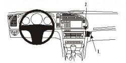 Fixation voiture Proclip  Brodit Saab 9-3  PAS pour les modèles avec porte-gobelet. Réf 853088