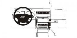 Fixation voiture Proclip  Brodit Audi A4 Cabriolet Réf 853092