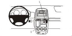Fixation voiture Proclip  Brodit Honda CR-V  UNIQUEMENT pour les gris argenté panneau de grain / bois. Réf 853099