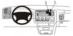 Fixation voiture Proclip  Brodit Cadillac Escalade Réf 853111