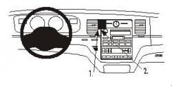 Fixation voiture Proclip  Brodit Lincoln Town Car Réf 853114