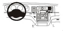 Fixation voiture Proclip  Brodit Lincoln Town Car Réf 853115