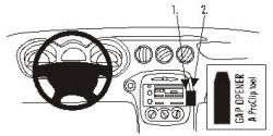 Fixation voiture Proclip  Brodit Pontiac Grand Am Réf 853116