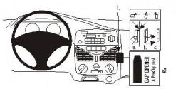 Fixation voiture Proclip  Brodit Fiat Siena Réf 853132