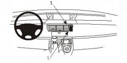 Fixation voiture Proclip  Brodit Citroen C8 Réf 853155