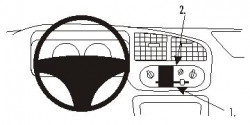 Fixation voiture Proclip  Brodit Daihatsu Cuore Réf 853163