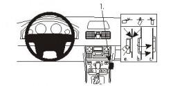 Fixation voiture Proclip  Brodit Volvo XC90 Réf 853172