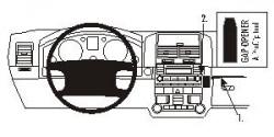 Fixation voiture Proclip  Brodit Volkswagen Touareg Réf 853178