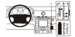Fixation voiture Proclip  Brodit Volkswagen Phaeton Réf 853180