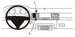 Fixation voiture Proclip  Brodit Audi A8 Réf 853196
