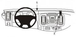Fixation voiture Proclip  Brodit Nissan Primastar Réf 853199