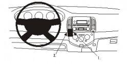 Fixation voiture Proclip  Brodit Nissan Micra Réf 853201