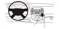 Fixation voiture Proclip  Brodit Nissan Micra Réf 853202