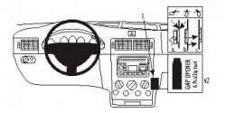 Fixation voiture Proclip  Brodit Ford Tourneo Connect Réf 853205