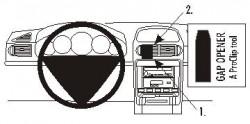 Fixation voiture Proclip  Brodit Porsche Cayenne Réf 853209