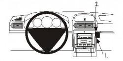 Fixation voiture Proclip  Brodit Porsche Cayenne Réf 853210