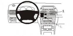 Fixation voiture Proclip  Brodit Toyota Avensis Réf 853211