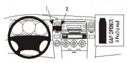 Fixation voiture Proclip  Brodit Toyota 4Runner  PAS pour les modèles avec option GPS d'origine. Réf 853220