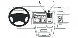 Fixation voiture Proclip  Brodit Cadillac Escalade Réf 853233