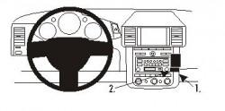 Fixation voiture Proclip  Brodit Nissan Murano Réf 853237